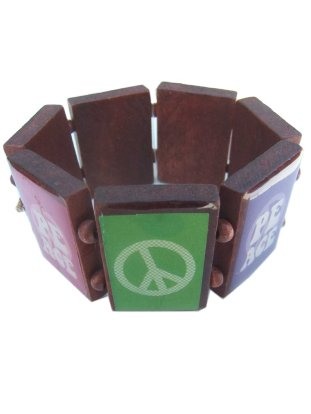 Armband peace hout 1