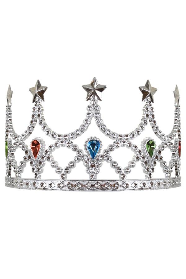 Tiara kam koningin zilver 1