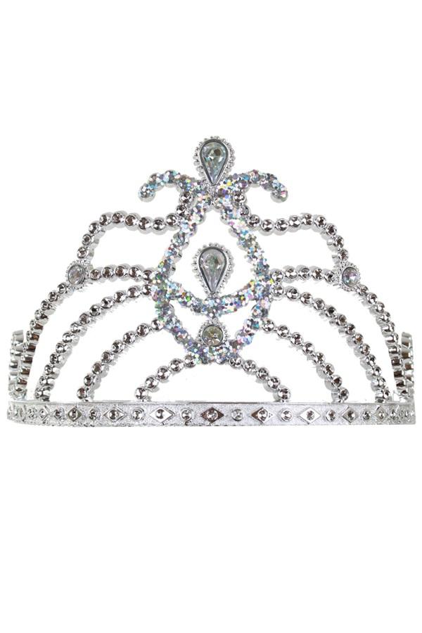 Tiara kam zilver met diamanten 2 assortie 1