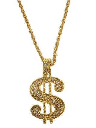 Ketting $ groot goud 1