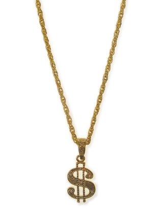 Collier dollar teken goud 1