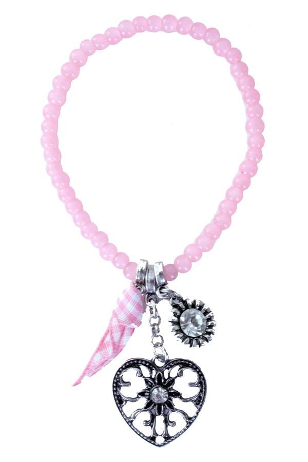 Armband Tiroler kraaltjes roze 1