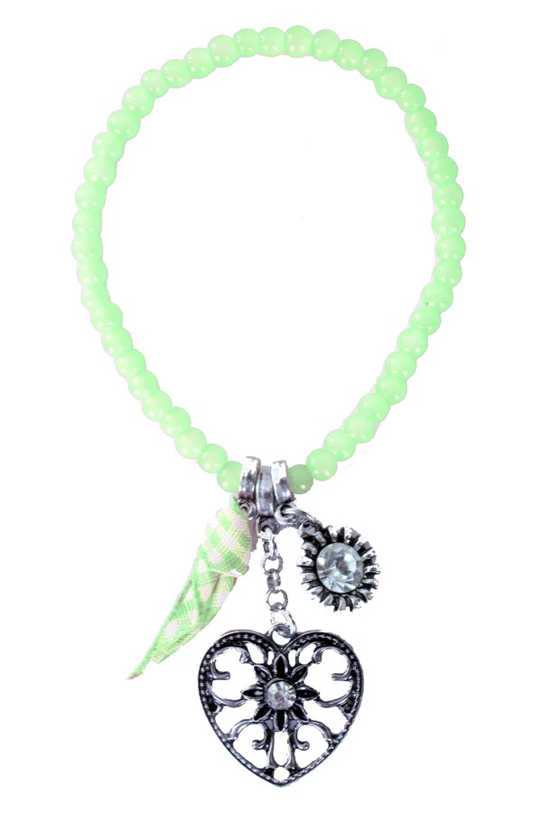 Armband Tiroler kraaltjes groen 1