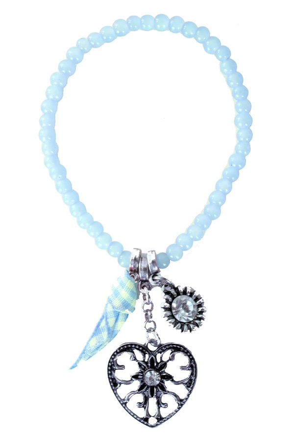 Armband Tiroler kraaltjes blauw 1