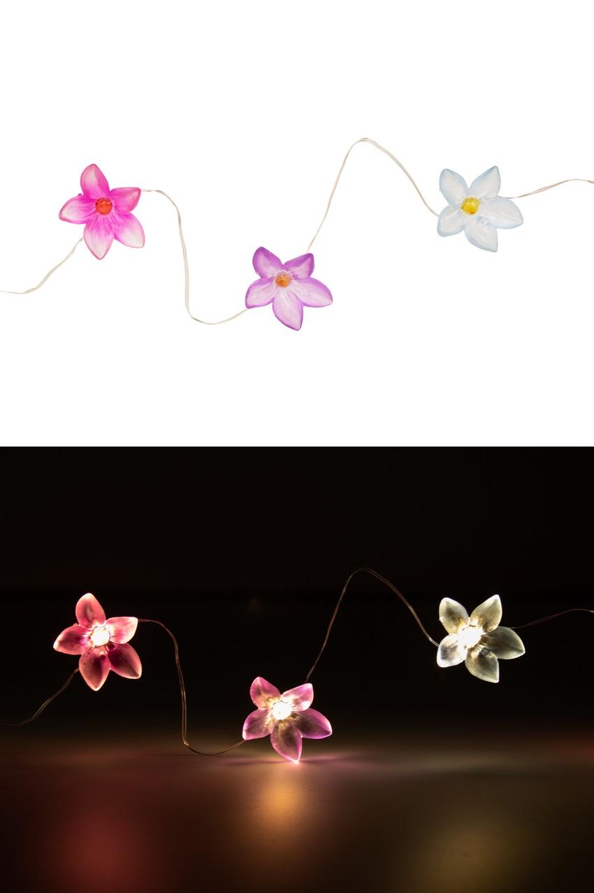 Led verlichtingsnoer bloemetjes battery 2 x CR2032 1