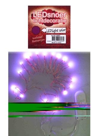 Ledverlichting snoer paars 2 meter 1