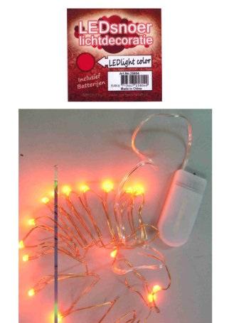 Ledverlichting snoer rood 2 meter 1