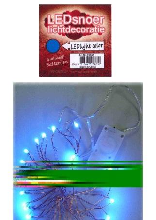 Ledverlichting snoer blauw 2 meter 1