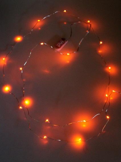 Ledverlichting snoer oranje 2 meter 1