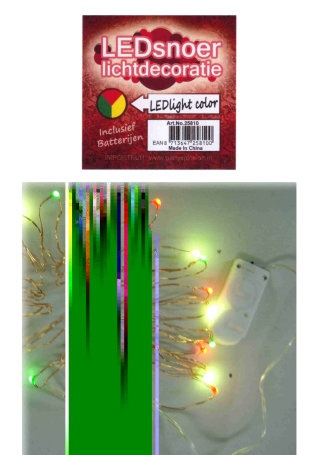 Ledverlichting snoer rood/geel/groen 2 meter 1