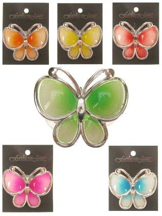 Vlinder lichtgevend assortie kleur en clip 1