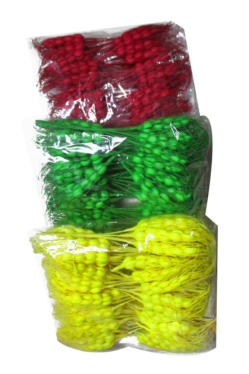 Gersten takjes rood/geel/groen per 60 stuks 1