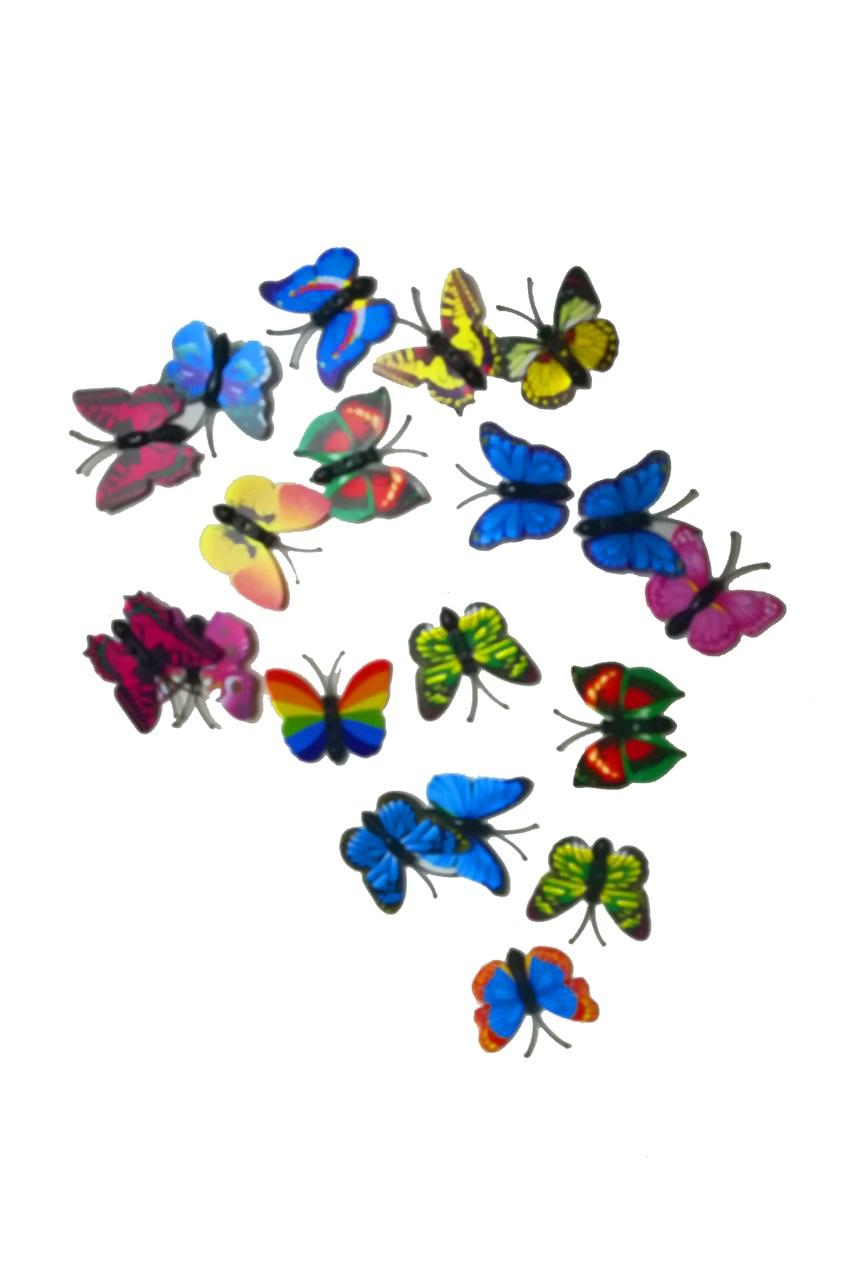 Decoratie vlinders assorti 50 stuks 1