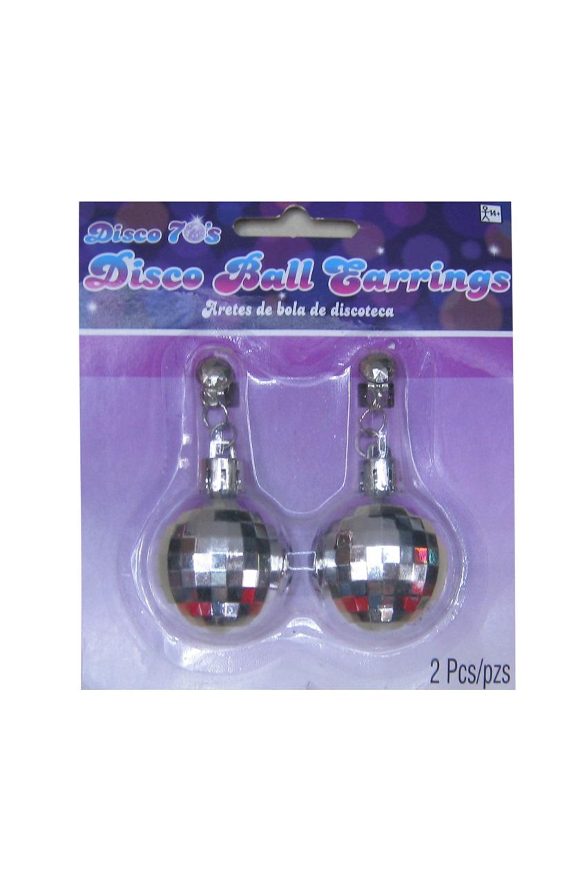 Disco oorbellen zilver op kaart 1