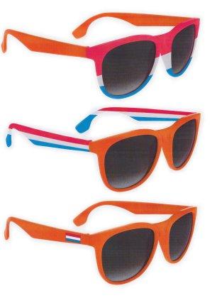 Blues brother bril oranje rd/wt/bl 3 ass