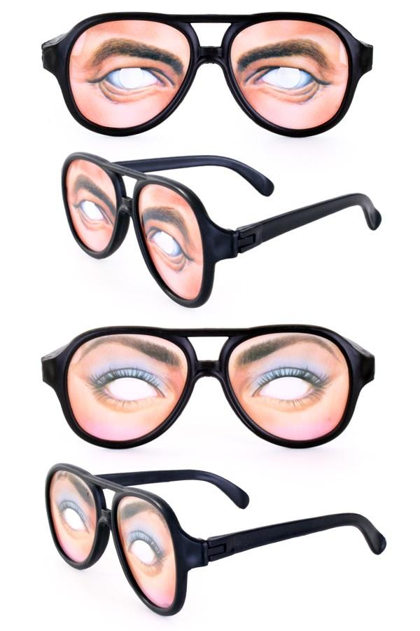 Bril met ogen 2 ass