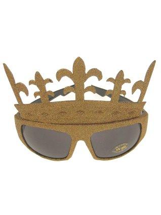 Bril glittergoud queens 1