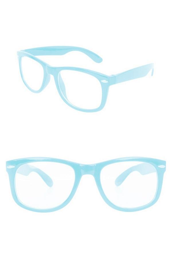 Blues brother bril turquoise met blank glas 1