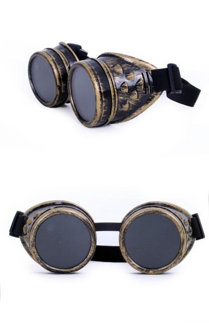 Steampunk bril goud kleurig 1