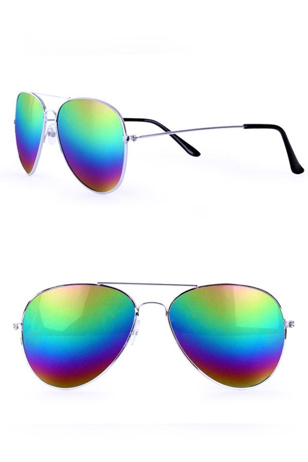 Pilotenbril olie/spiegelglas regenboog 1