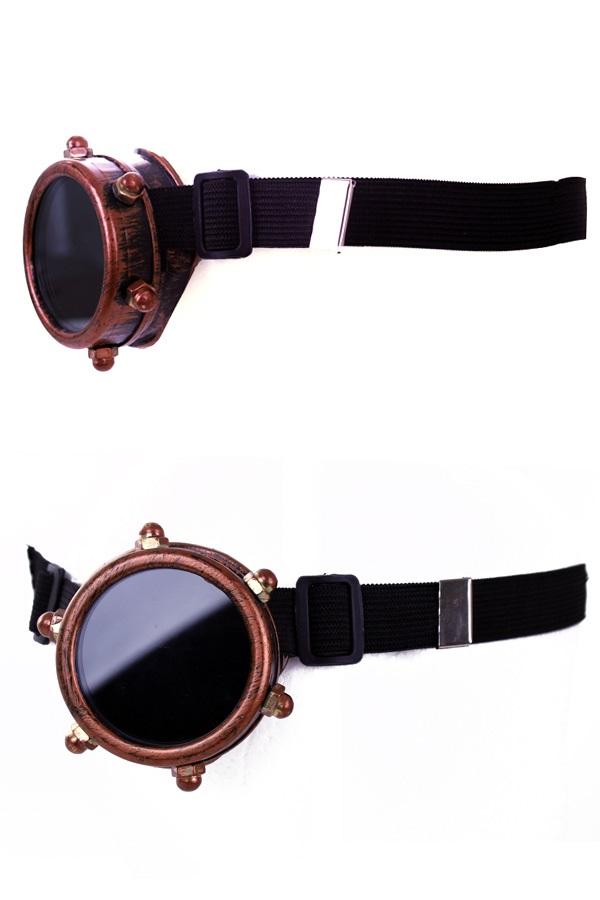 Steampunk bril monocle koper kleurig 1