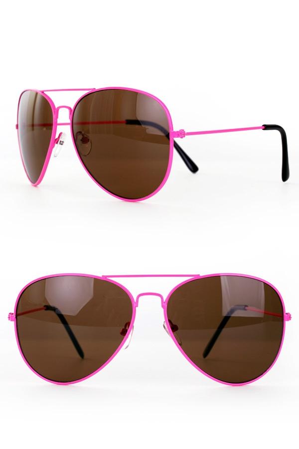Zonnebril/ Pilotenbril fluo Pink 1