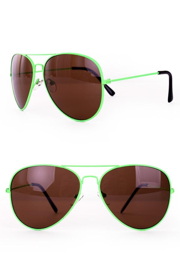 Zonnebril/ Pilotenbril fluo Groen 1