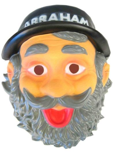 Masker abraham met hoed plastic 1