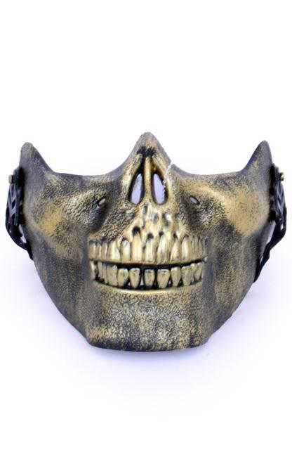 Halfmasker onderkaak skull goud 1