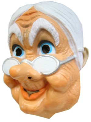 Masker oudje met bril plastic 1
