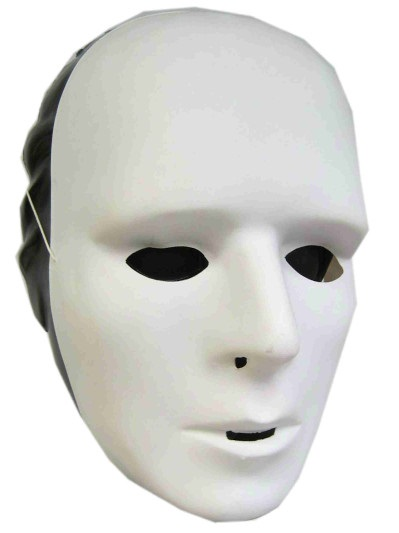 Grimeermasker wit plastic 1