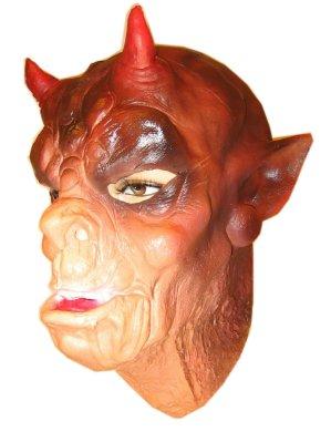 Masker demoon met horens latex 1
