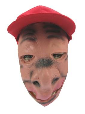 Masker rubber met pet rond gezicht met opstaande neus 1