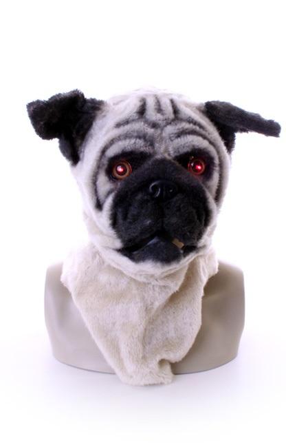Volkop masker hond met lichtgevende ogen en bewegende mond 1