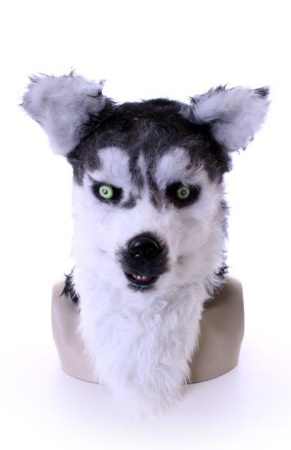 Volkop masker Husky/ wolf lichtgevende ogen, bewegende mond 1