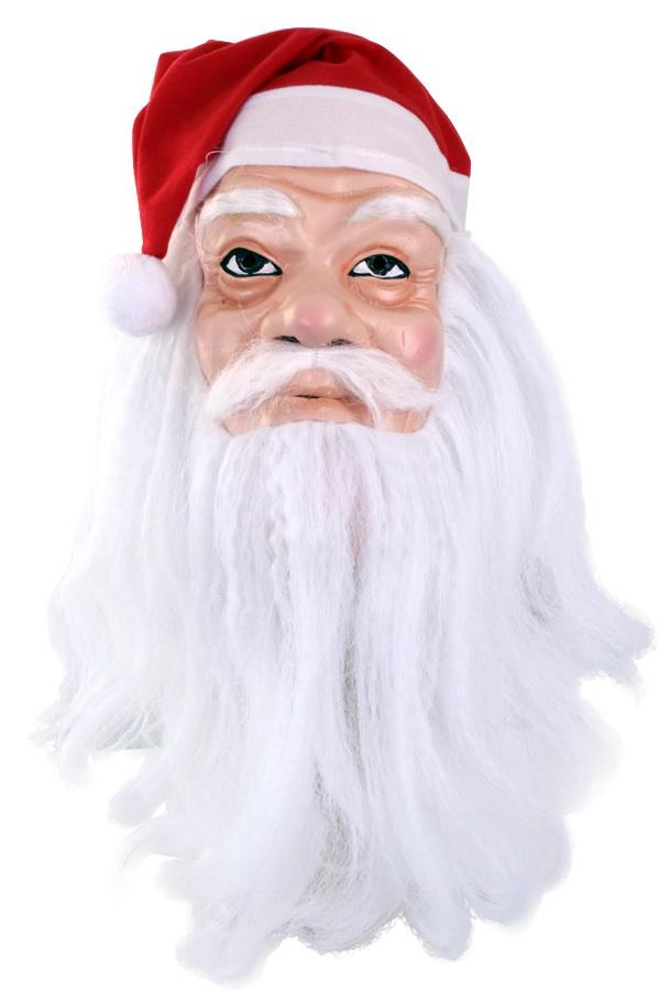 Masker Kerstman met muts en baard 1