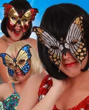 Oogmasker bonte vlinders ass