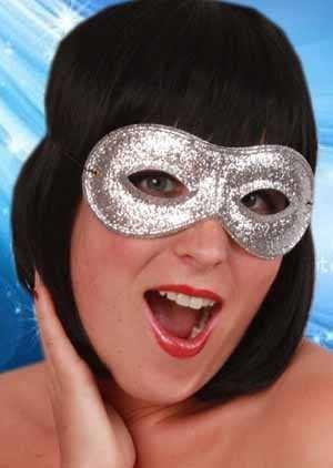 Oogmasker farfalla glitterzilver 1