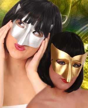 Oogmasker vivi goud/zilver 1