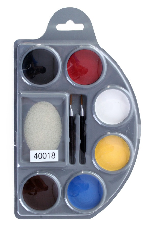 Schmink palet aqua 6 basis kleuren 1
