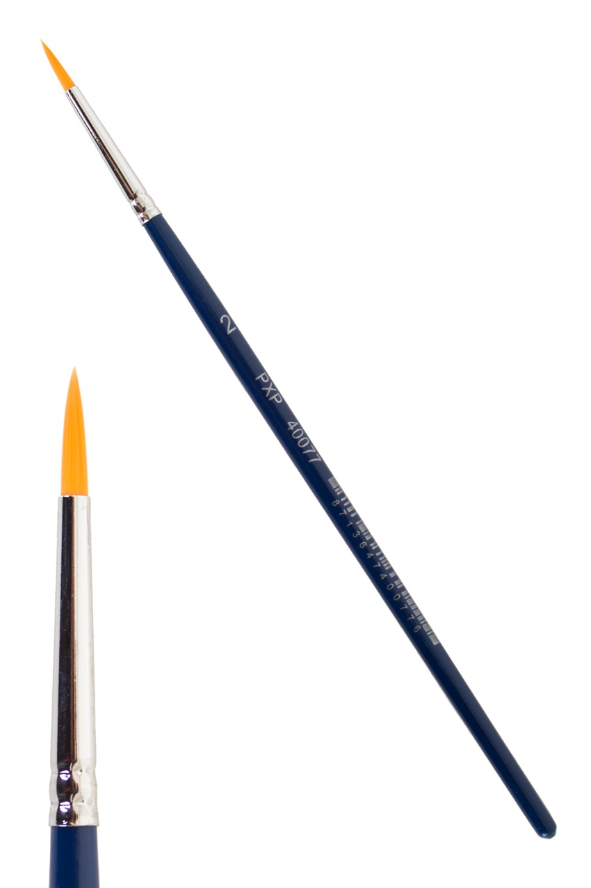 PXP penseel spits nr. 2  mt. Ø 1