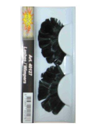 Wimpers veren zwart 1