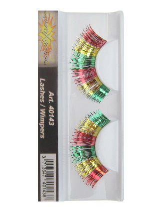 Wimpers rood/geel/groen metallic 1