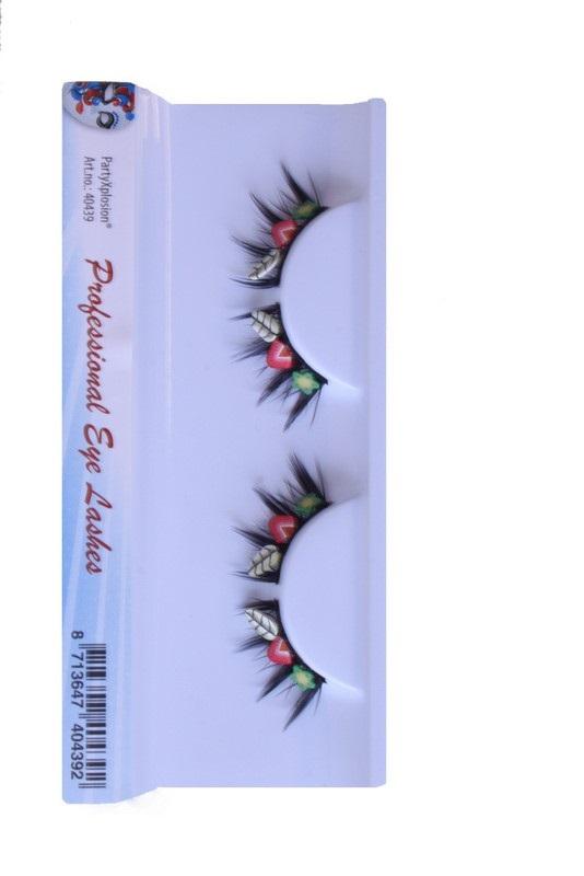 Wimpers zwart bloem-aardbei-blad 1