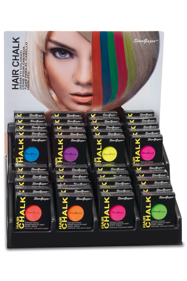 Stargazer display 3,5 gram 6 x 8 colours neon hair chalk 1