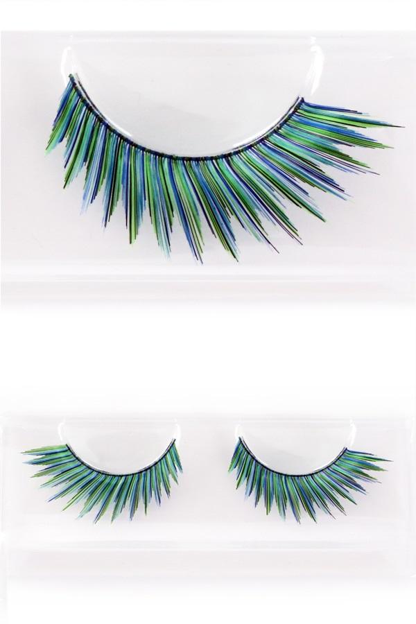 Wimpers pauw groen/blauw 1