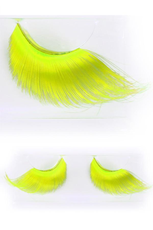 Wimpers maxi fluor geel 1