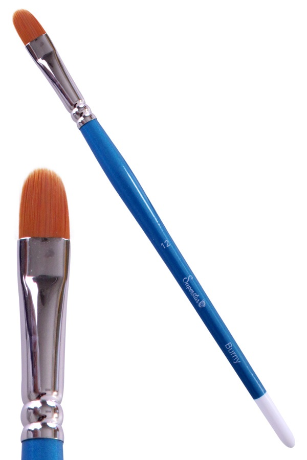Synthetic filbert brush # 12 Burny SUPERSTAR 1