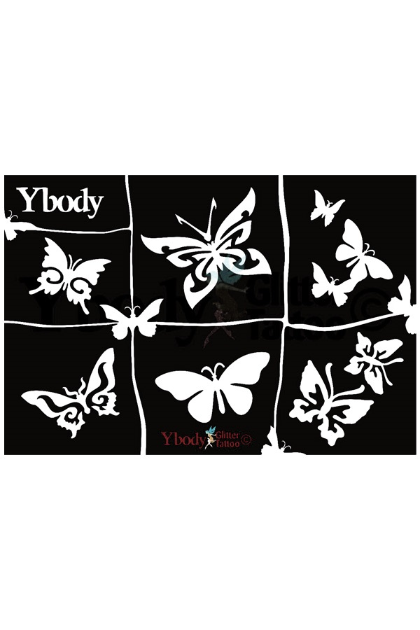 Stencil Butterflies Y body 1