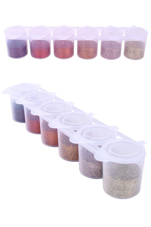 Steampunk color glitter set 6×13 gram  Ybody 1